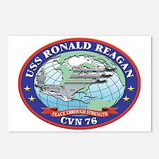 USS Ronald Reagan CVN 76 Postcards (Package of 8)