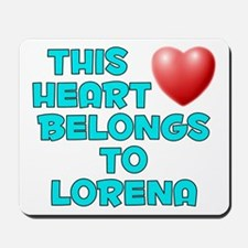 This Heart: Lorena (E) Mousepad