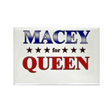 MACEY for queen Rectangle Magnet