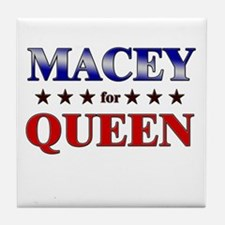 MACEY for queen Tile Coaster