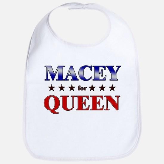 MACEY for queen Bib