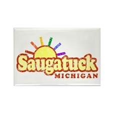 Sunny Gay Saugatuck, Michigan Rectangle Magnet