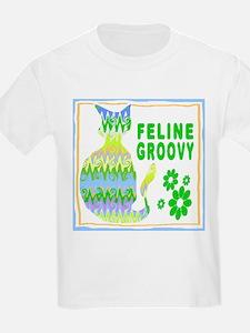 Feline Groovy II Kids T-Shirt
