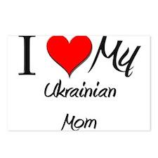 I Love My Ukrainian Mom Postcards (Package of 8)