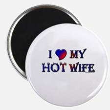 "I LOVE MY HOT WIFE 2.25"" Magnet (100 pack)"