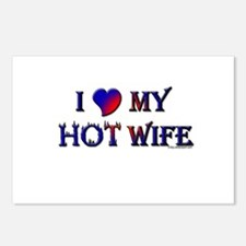 I LOVE MY HOT WIFE Postcards (Package of 8)