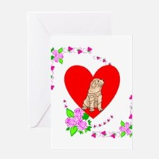 Shar Pei Love Greeting Card