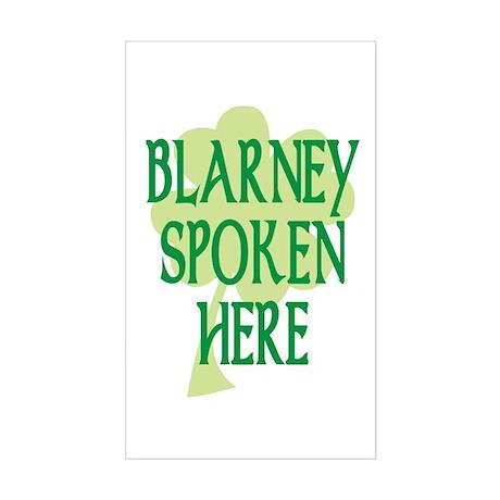Blarney Spoken Here Rectangle Sticker