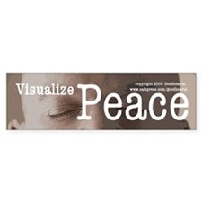 Visualize Peace Bumper Bumper Sticker