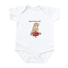 Happy Valentine's Day Shar Pei Infant Bodysuit