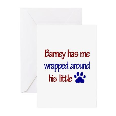 Barney Has Me Wrapped Around Greeting Cards (Pk o