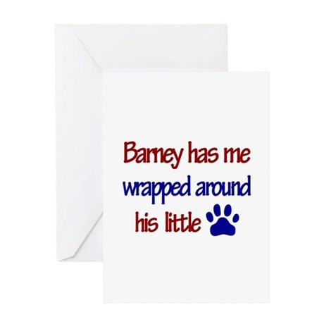 Barney Has Me Wrapped Around Greeting Card