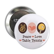 "Peace Love Table Tennis 2.25"" Button (10 pack)"