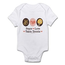 Peace Love Table Tennis Infant Bodysuit