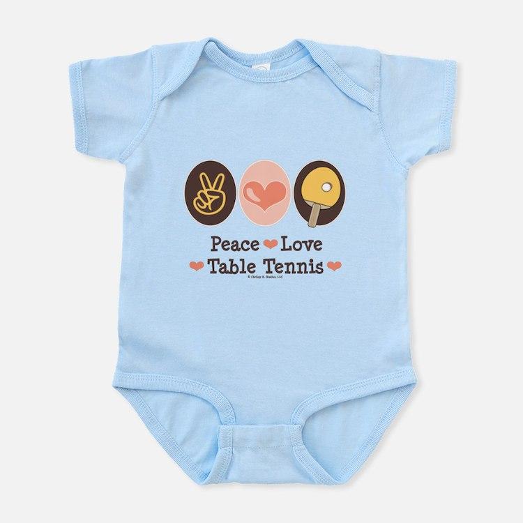 Peace Love Table Tennis Infant Bodysuit