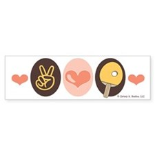 Peace Love Table Tennis Bumper Bumper Sticker