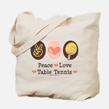 Peace Love Table Tennis Tote Bag
