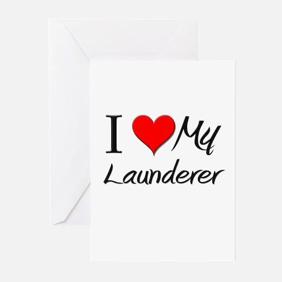I Heart My Launderer Greeting Cards (Pk of 10)