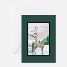 Scenic Arabian Horse Christmas Greeting Card