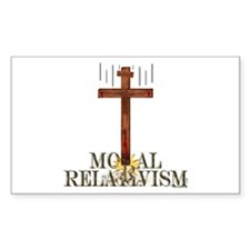 Moral Relativism Rectangle Decal