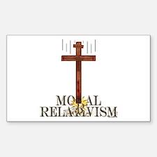 Moral Relativism Rectangle Decal