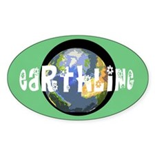 Earthling Oval Decal