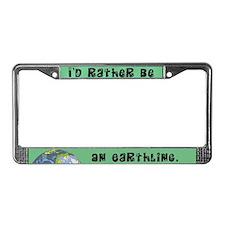 Earthling License Plate Frame