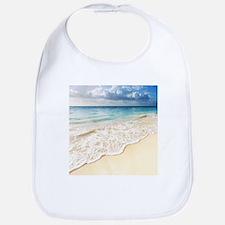 Beautiful Beach Cotton Baby Bib