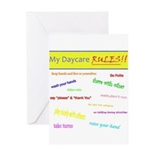My Daycare Rules Greeting Card