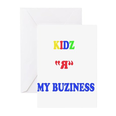 Kids are my business Greeting Cards (Pk of 20)