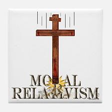 Moral Relativism Tile Coaster