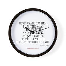John 14:6 Wall Clock