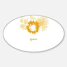 grace Oval Decal