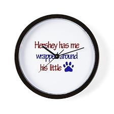Hershey Has Me Wrapped Around Wall Clock