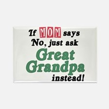 Just Ask Great Grandpa! Rectangle Magnet