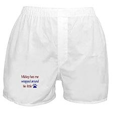 Mickey Has Me Wrapped Around Boxer Shorts