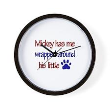Mickey Has Me Wrapped Around Wall Clock