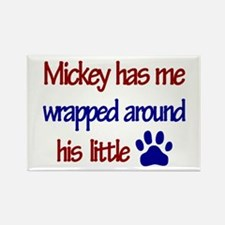 Mickey Has Me Wrapped Around Rectangle Magnet