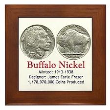 Buffalo Nickel Framed Tile