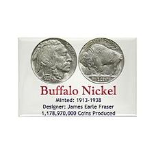 Buffalo Nickel Rectangle Magnet