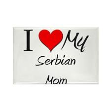 I Love My Serbian Mom Rectangle Magnet