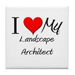 I Heart My Landscape Architect Tile Coaster