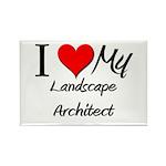 I Heart My Landscape Architect Rectangle Magnet (1