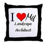 I Heart My Landscape Architect Throw Pillow