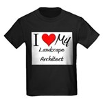 I Heart My Landscape Architect Kids Dark T-Shirt