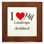 I Heart My Landscape Architect Framed Tile