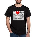 I Heart My Landscape Architect Dark T-Shirt