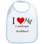 I Heart My Landscape Architect Bib