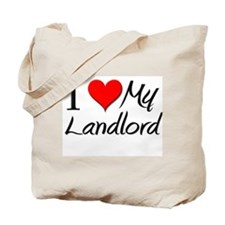 I Heart My Landlord Tote Bag