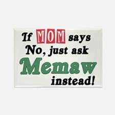 Just Ask Memaw! Rectangle Magnet